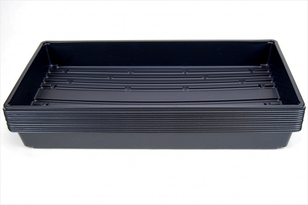 50 Plant Growing Trays (No Drain Holes) - 20'' x 10'' - Perfect Garden Seed Starter Grow Trays: for Seedlings, Indoor Gardening, Growing Microgreens, Wheatgrass & More - Soil or Hydroponic by Living Whole Foods