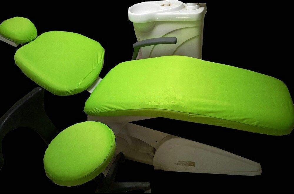 Dental Chair Unit Dentist Cover Sleeves Elastic Protector Washable Headrest Backrest Apple Green Color 1 Set