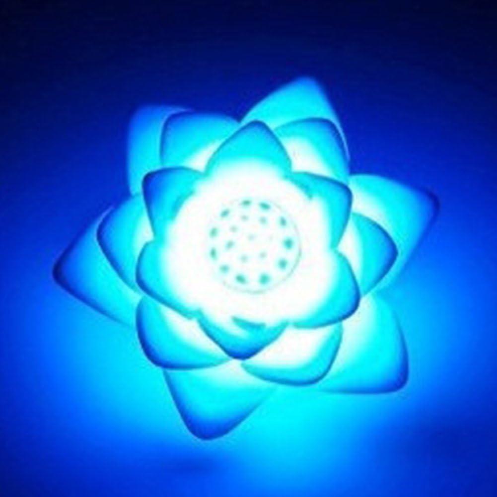 LYCOS3 7 colores cambiantes Lotus LED luz nocturna, luz solar flotante flor de loto luz LED piscina y estanque RGB luz nocturna, para niños y adultos, RGB, Tamaño libre