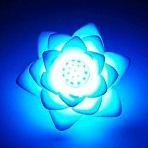 WOSOSYEYO LED Artificial Lotus Colorido Cambiado Flotante Flor L/ámparas Piscina de Agua Deseando Luz Linternas Party Supply