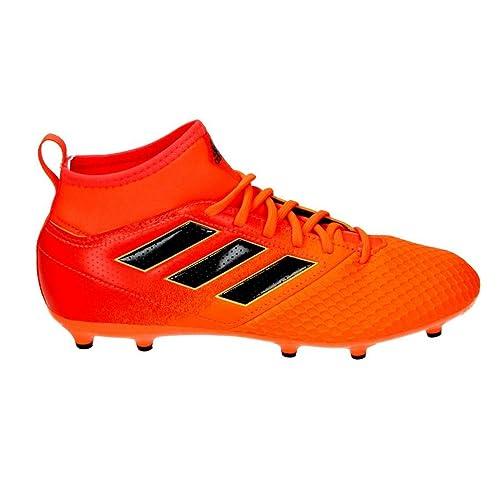 adidas X 17.3 FG J, Chaussures de Football Mixte enfant - Noir - Noir (Negbas/Rojsol/Narsol), 29 EU