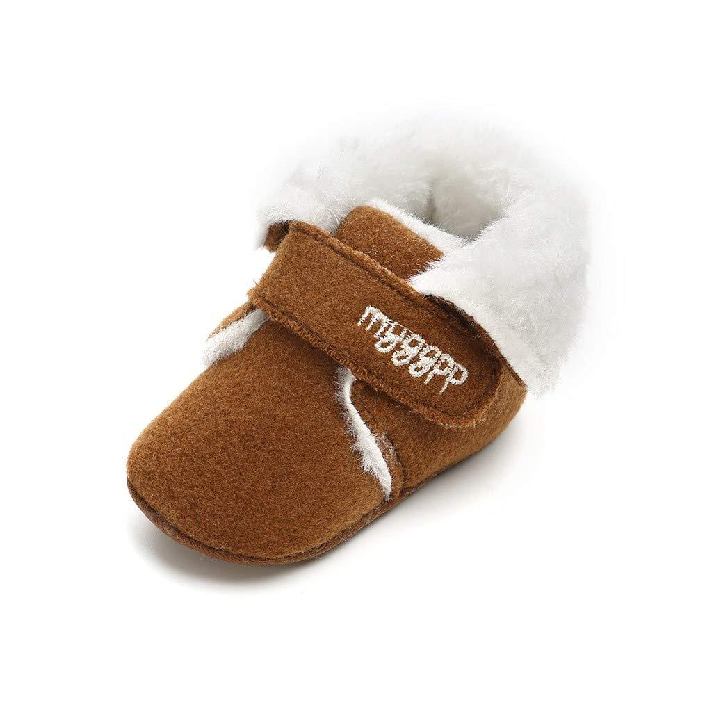 Auxma Chaussures de bébé pour 0-6 6-12 12-18 Mois Mode bébé Bottes d'hiver Chaud, Enfant Bottines, Chaussures à Semelle Souple pour Nouveau-né