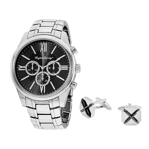 Inglés lavandería reloj para hombres Gemelos Giftset elwn5434s675: Amazon.es: Relojes