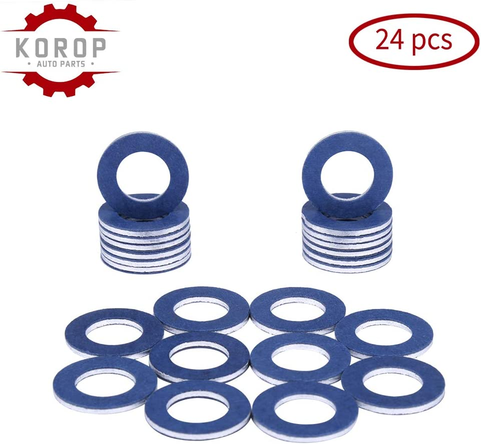 90430-12031 Aluminum Oil Drain Plug Gaskets/ 24Pcs Fits for TOYOTA LEXUS SCION Crush Washer Seals/Replaces# 9043012031