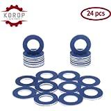 90430-12031 Aluminum Oil Drain Plug Gaskets (24Pcs) Fits for TOYOTA LEXUS SCION Crush Washer Seals Replaces# 9043012031