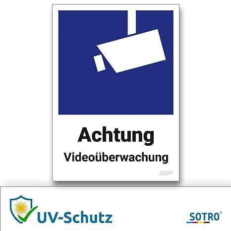 Videoüberwachung Aufkleber Und Symbol Din 33450 10x14cm Schild Videoüberwacht Warnhinweis überwachungskamera Uv Schutz Selbstklebend Für Innen