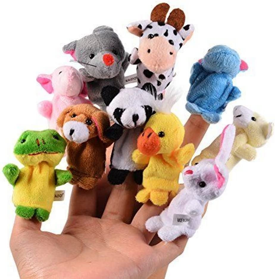 CHSYOO 10 x Suave Marioneta Dedo Animales Muñecos Dedo, Juguetes Bebe Regalo para Fiesta Cumpleaños Niños Bautizo Fiesta Bebé