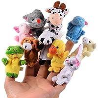 CHSYOO 10 x Suave Marioneta Dedo Animales Muñecos