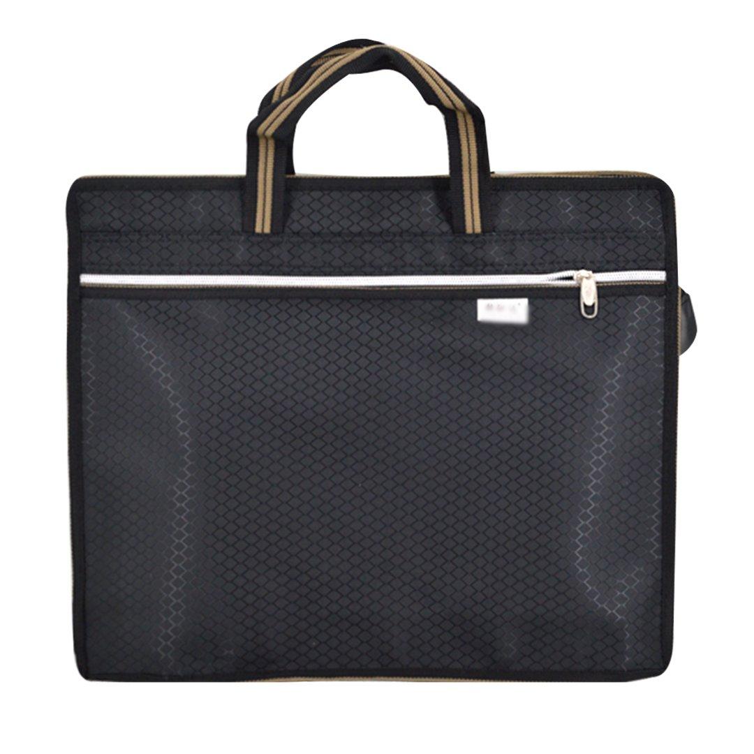 LABANCA Business Tote Briefcase Expanding File School Document Portfolio Pouch Handbag for Documents Tickets Black