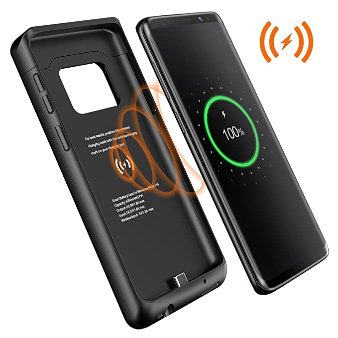 sneakers for cheap ecb17 c82b5 Amazon.com: Galaxy S9 Plus Battery Case,Qi Wireless Charging Charger ...