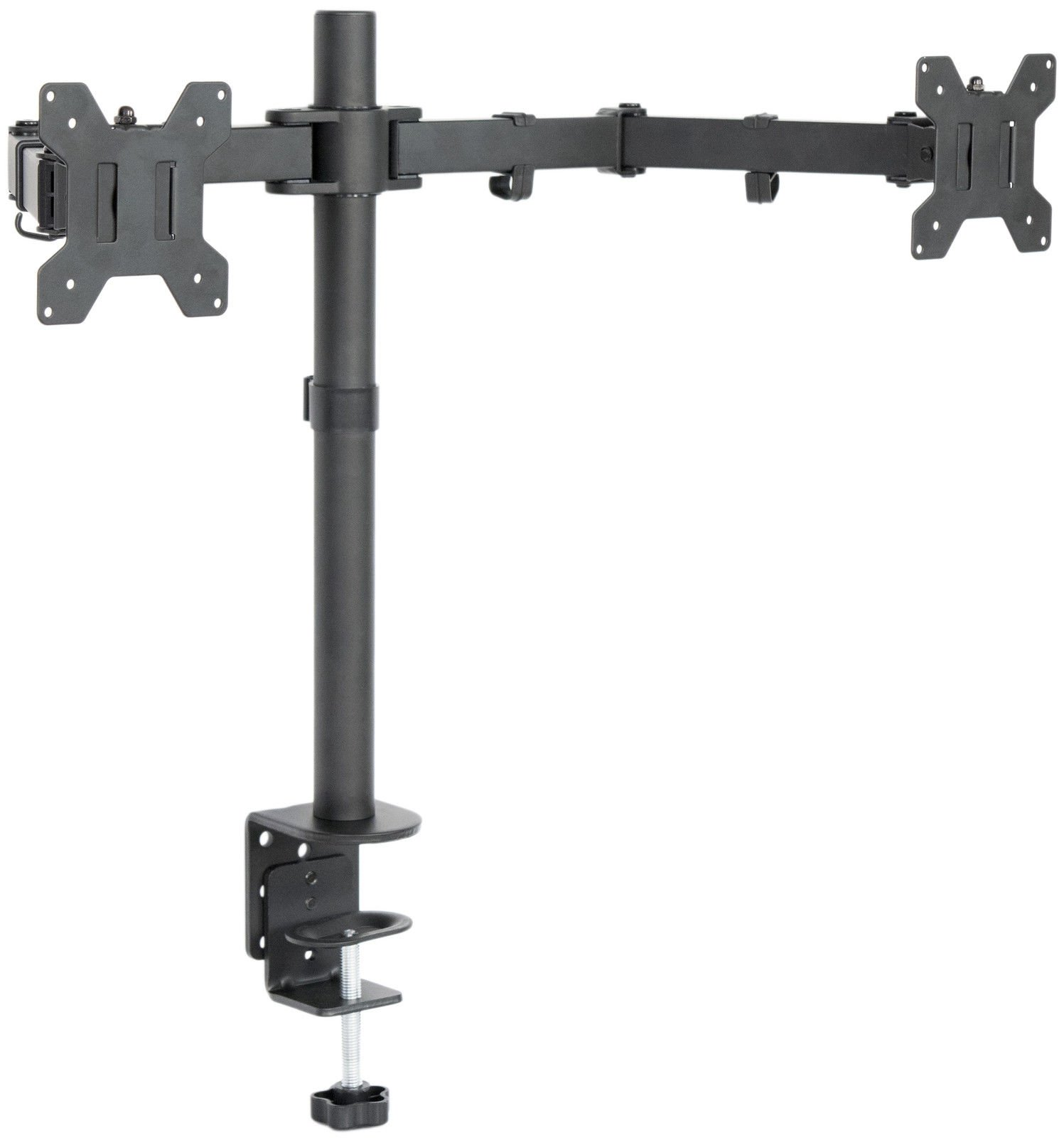 Dual LCD Monitor Desk Mount Stand Heavy Duty Fully Adjustable 2 Screens upto 27''