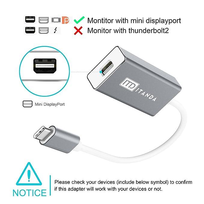 Amazon Usb C To Mini Displayport Adapter Itd Itanda 4k