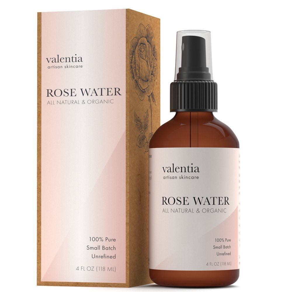 Valentia Organic Rose Water Toner Spray (4oz.)
