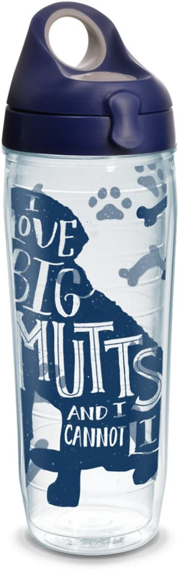 Tervis Project Paws I Love Big Mutts and I Cannot Lie iHeartdogs 24 oz Water Bottle with navy lid, Clear
