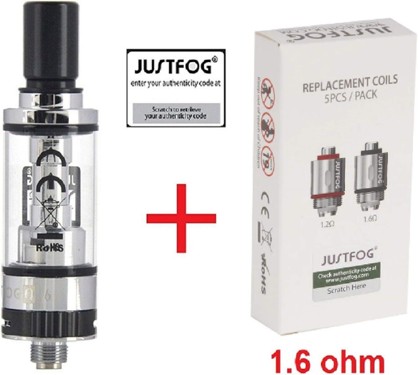 Justfog - Kit Q16 (resistencias + claromizador Q16) Paquete de resistencias de 1.6ohm: Amazon.es: Electrónica