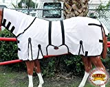 HILASON 69'' UV Protect MESH Bug Mosquito Horse Fly Sheet Summer Spring White
