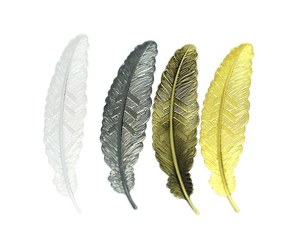 1 x Toruiwa segnalibri segnalibri in ottone vintage creative leaves Shape segnalibri etichette per studenti ufficio scuola cancelleria Gift Craft colore casuale