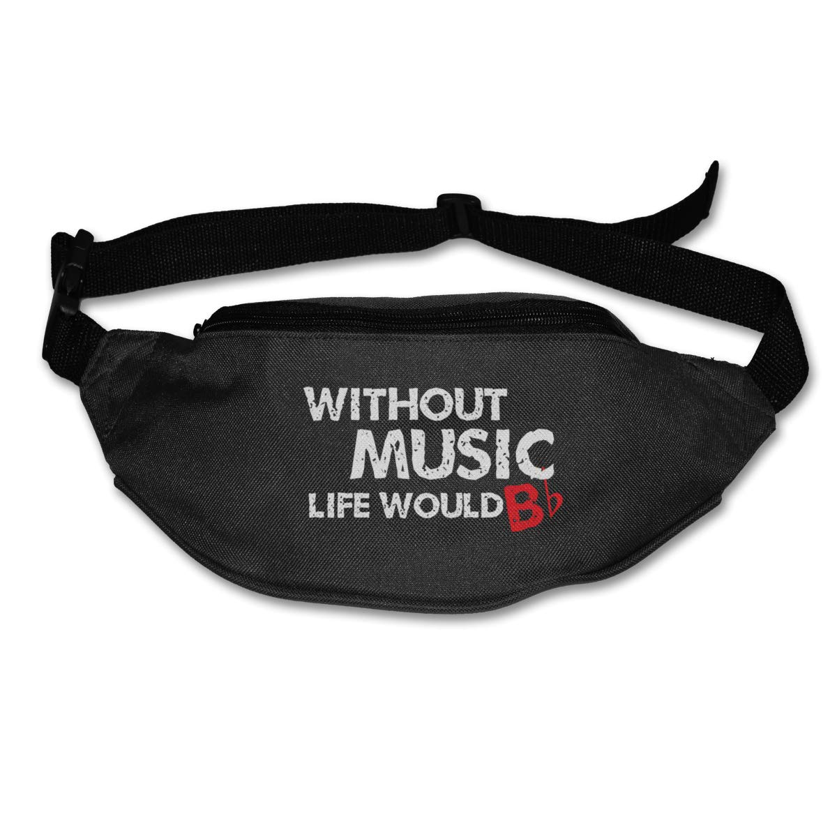 Without Music Life Would B Sport Waist Pack Fanny Pack Adjustable For Travel