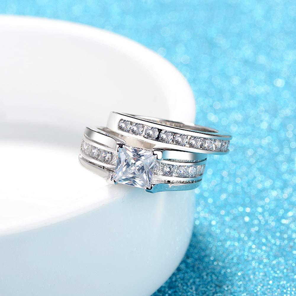 yayoushen Lady Ring Diamond Square Main Stone Ring