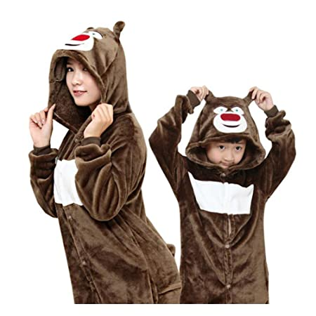 Bathrobe pajamas Nightgown child Couple Men / Women Flannel lovely ...