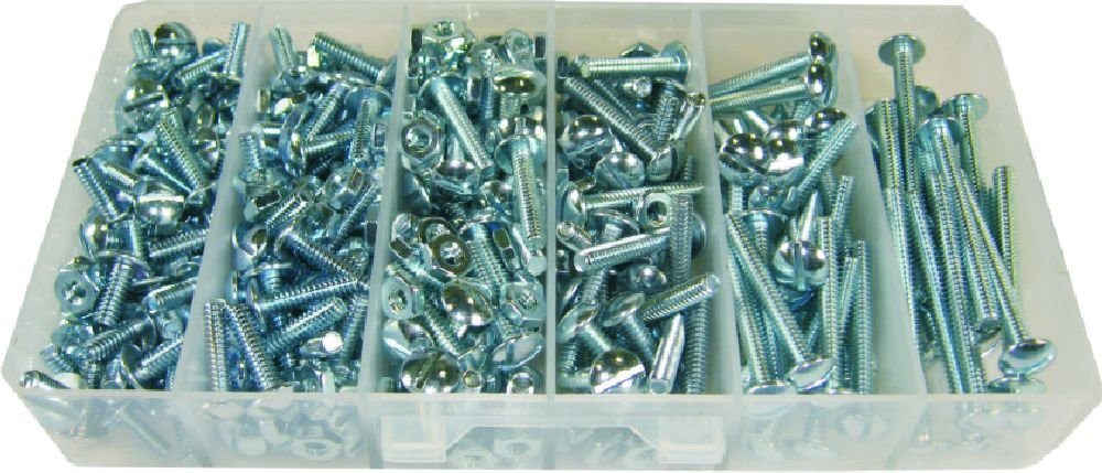 Dottie L.H Truss Head 1//4-Inch-20 TPI by 1//2-Inch to 2-Inch Length Slotted Drive Dottie 1420 110-Piece Stove Bolt Kit L.H