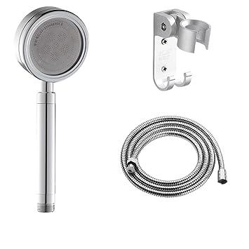 space aluminum Turbo shower shower Kit Water saving small handheld shower Water heater shower-E