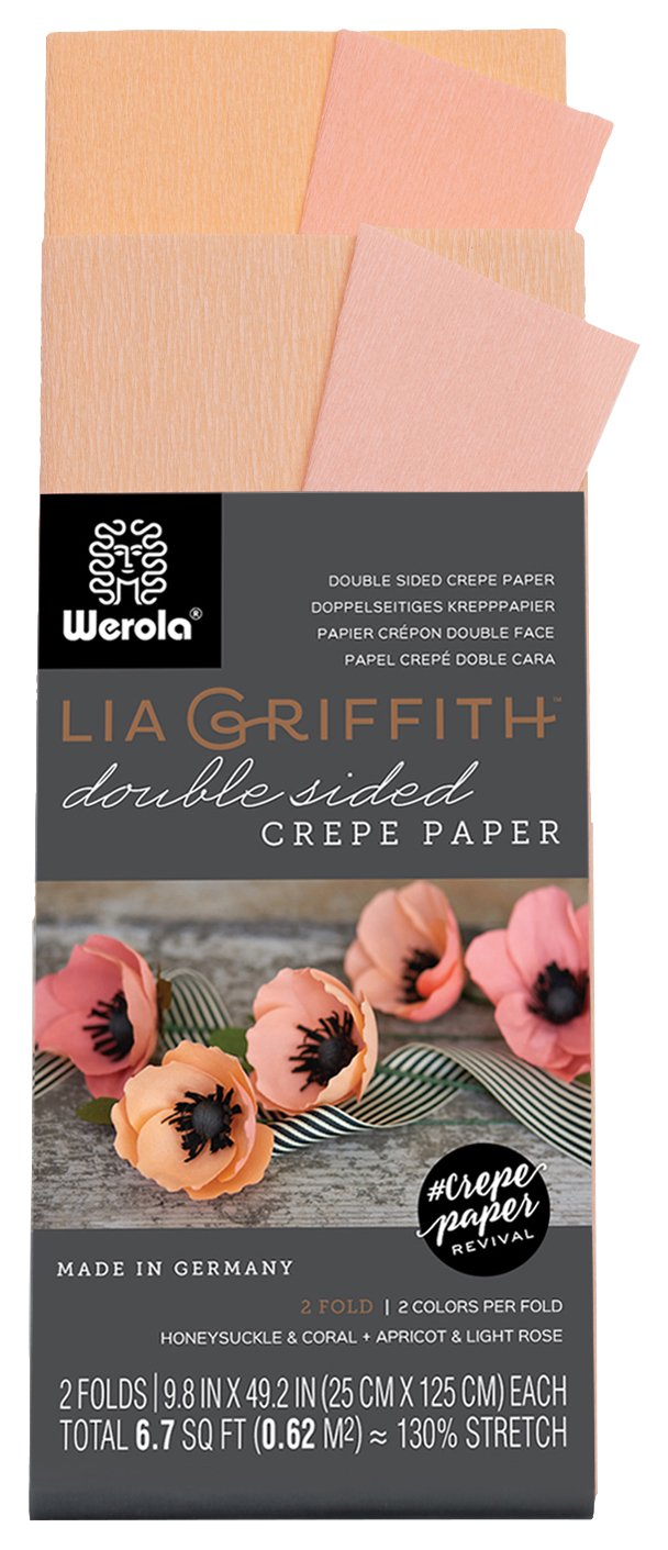 Amazon.com: Lia Griffith Double Sided Crepe Paper Folds Roll, 6.7-Square  Feet, Honeysuckle and Coral, Apricot and Light Rose (LG11020): Toys & Games