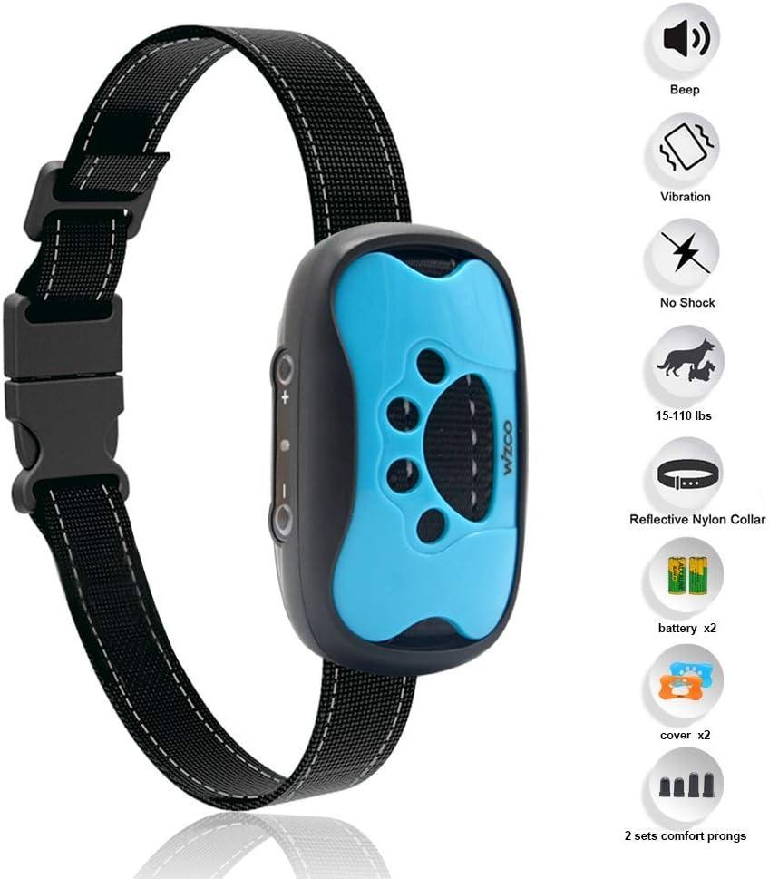 Wizco-Collar de Control de Ladridos Para Perros-Collar de entrenamiento antiladrido humano-vibración sin collar de perro de choque-detener collar de ladridos para perros pequeños medianos grandes