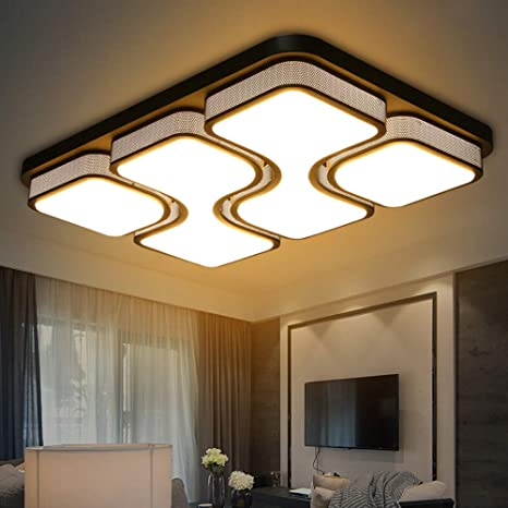 MYHOO 78W LED Blanco Cálido Luz de techo Diseño de moda moderna plafón,Lámpara de Bajo Consumo Techo para Dormitorio,Cocina,oficina,Lámpara de sala de ...
