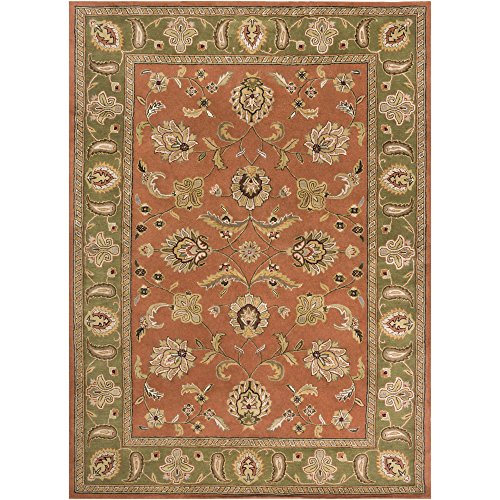 Surya Crowne CRN-6019 Classic Hand Tufted 100% Wool Cinnamon Spice 8' x 11' Traditional Area - Biscotti 811