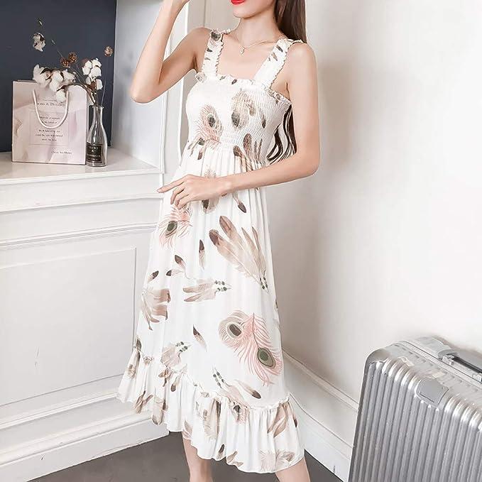 zysymx Fabuloso Vestido de Mujer Bohemian Beach Summer Dress ...
