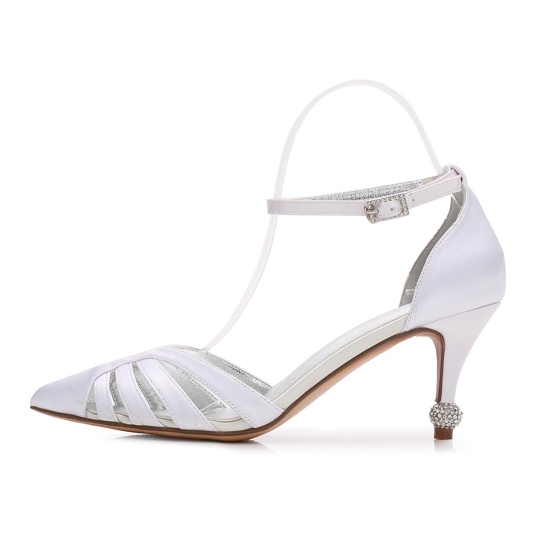 Elegant high schuhe Die Nahen Zehe-Hochzeits-T17767-33 der Frauen für Beschuht für Frauen Braut mit Satin-Spitze-Partei-Gerichts-Schuhen Champagne 0d530e