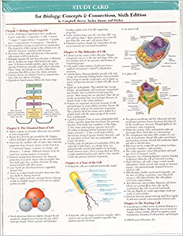 Study card for biology concepts and connections 9780321547774 study card for biology concepts and connections 9780321547774 amazon books fandeluxe Choice Image