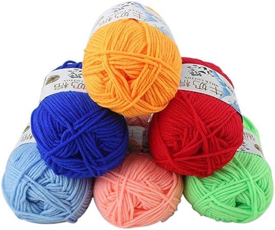 Artibetter 2pcs Wolle Regenbogen-Serie Handstrickgarn zum N/ähen von Hand Pullover Strick Mehrfarbig