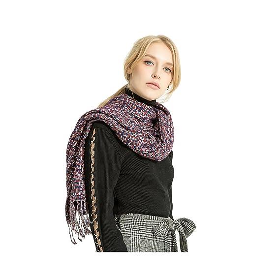 81014fffa04d Femme Fille Multicolore Très Épais Écharpe Wrap tricotée Châles Etole  Glands Tassel