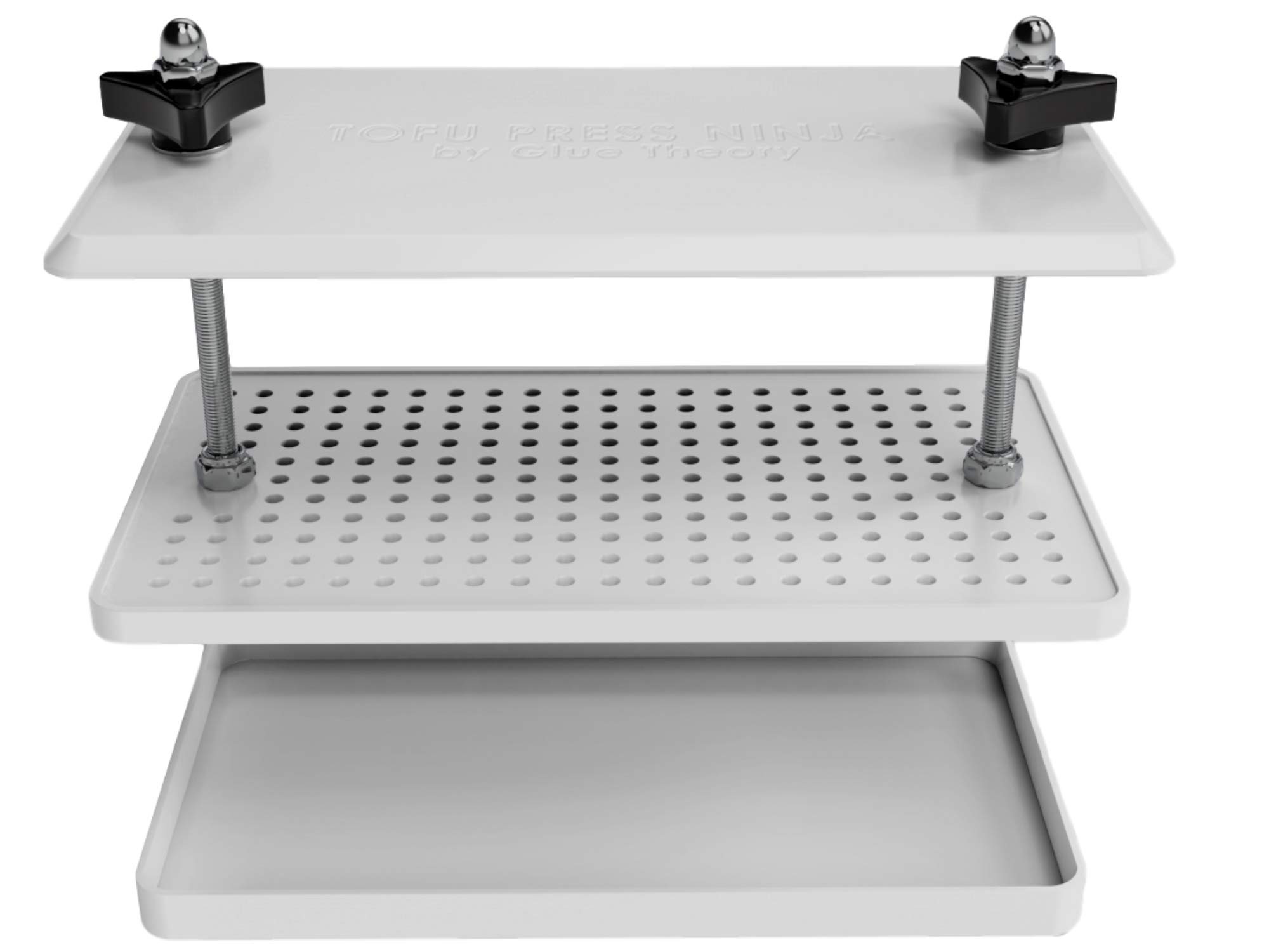 Simple Drip Tofu Press - The Easiest Tofu Press That Removes Water From A Tofu Block. Includes A Tofu Strainer And Attachable Drip Tray To Catch All Water Drippings.