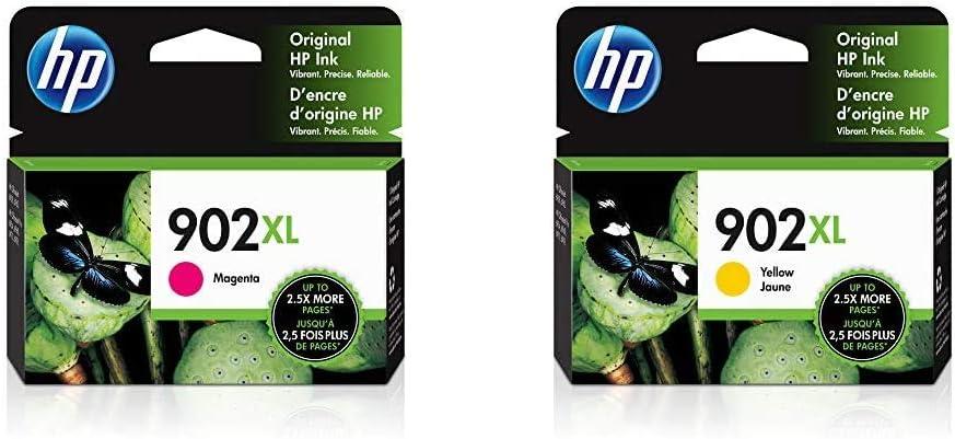 HP 902XL | Ink Cartridge | Magenta | T6M06AN & 902XL | Ink Cartridge | Yellow | T6M10AN