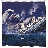 Sloth Shower Curtain, Funny Shower Curtain, Titanic Bathroom, Nautical...