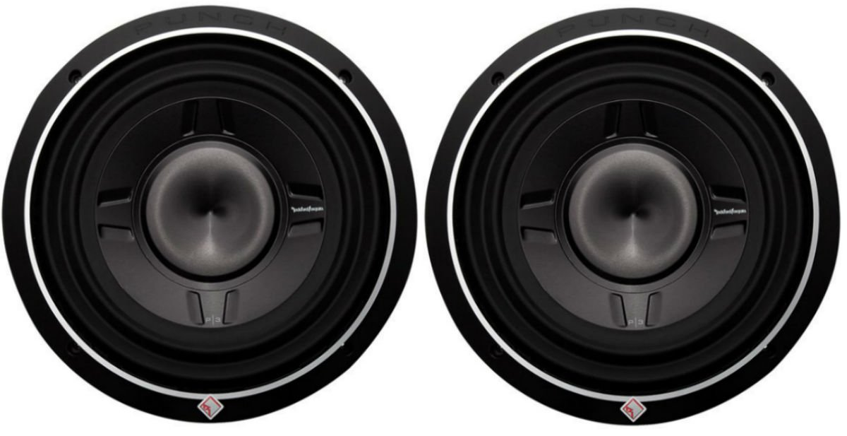 2) Rockford Fosgate P3SD4-12 P3SD412 12'' 1600W Shallow Mount Car Subwoofers Subs
