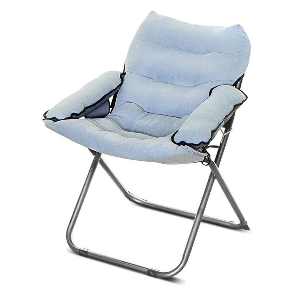 Folding chairs / Lunch break Napping chairs / Office balcony Folding chair / dormitory Home single chair / lazy Computer chair / pregnant chair / folding Home folding chair / ( Color : I )