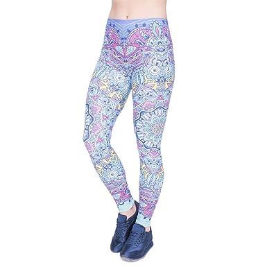 Pantalones De Yoga Moda Mujer Legging Fantasía Mandala Stretch ...