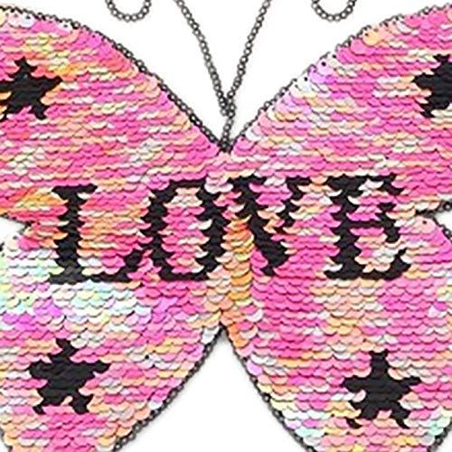 Love sticker Patch lentejuelas DIY coser