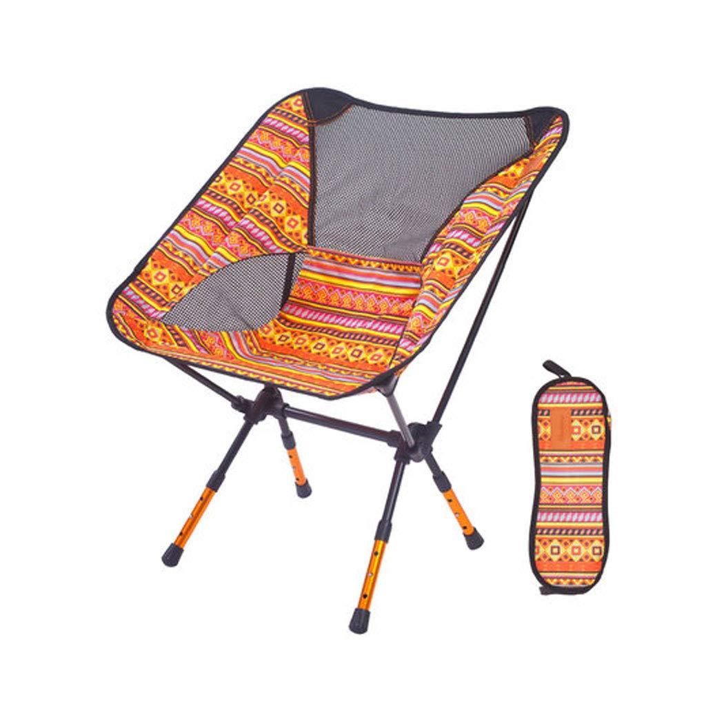 BFQY FH Außenverstellbarer Klappstuhl, Ultraleichte Tragbare Aluminiumlegierung Camping Angeln Freizeit Strand Stuhl 57 × 43 × 71 cm, Vier Farben Optional