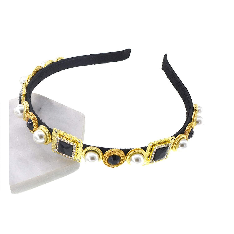 Women Headband Crystal Headwear New Luxury Rhinestone Hairband Fashion Head Wrap