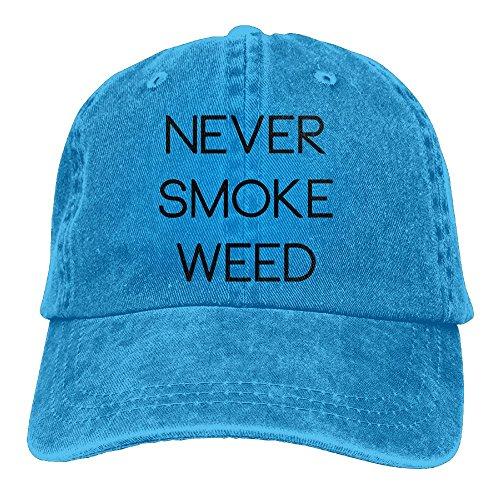 Richard Never Smoke Bad Weed Unisex Cotton Washed Denim Leisure Cap Adjustable RoyalBlue