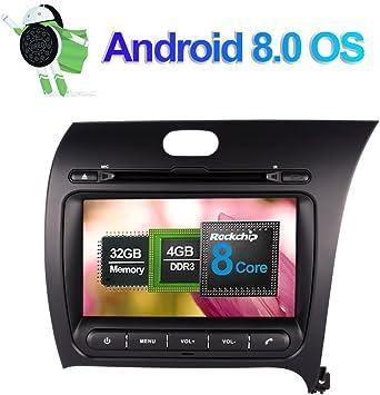 8 Zoll 4gb Ram Android 8 0 Autoradio Stereo Cd Dvd Multimedia Player Für Kia Cerato K3 Forte 2013 Mit Bluetooth Gps Navigation Unterstützung Fm Am Rds Telefon Link Wlan 4g Av Out Kamera Eingang Amazon De