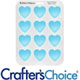 Silicone Soap Mold, Heart Shaped Guest Bar, 1612