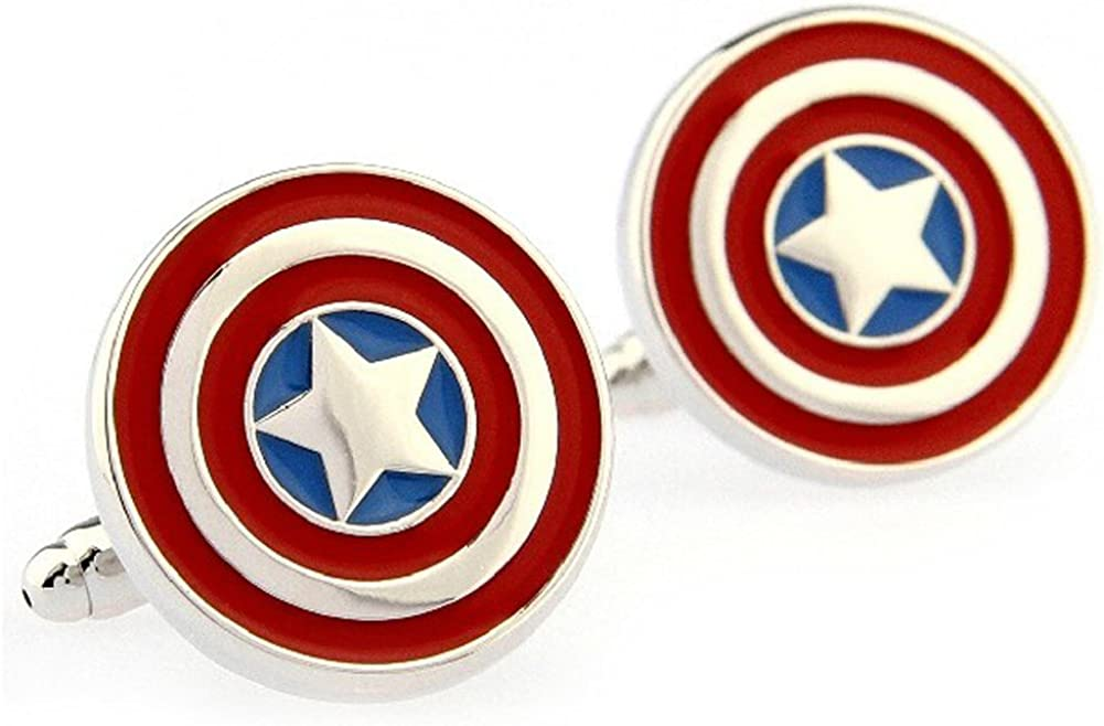 Captain America Formal Wear with Gift Box Cufflinks Cuff Links