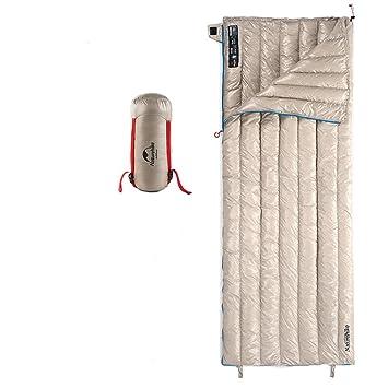 Tentock Súper Cálido compresión Ultraligero Ganso Abajo Envelope Saco de Dormir al Aire Libre con Cremallera para 3 Temporada Camping Senderismo(Caqui): ...