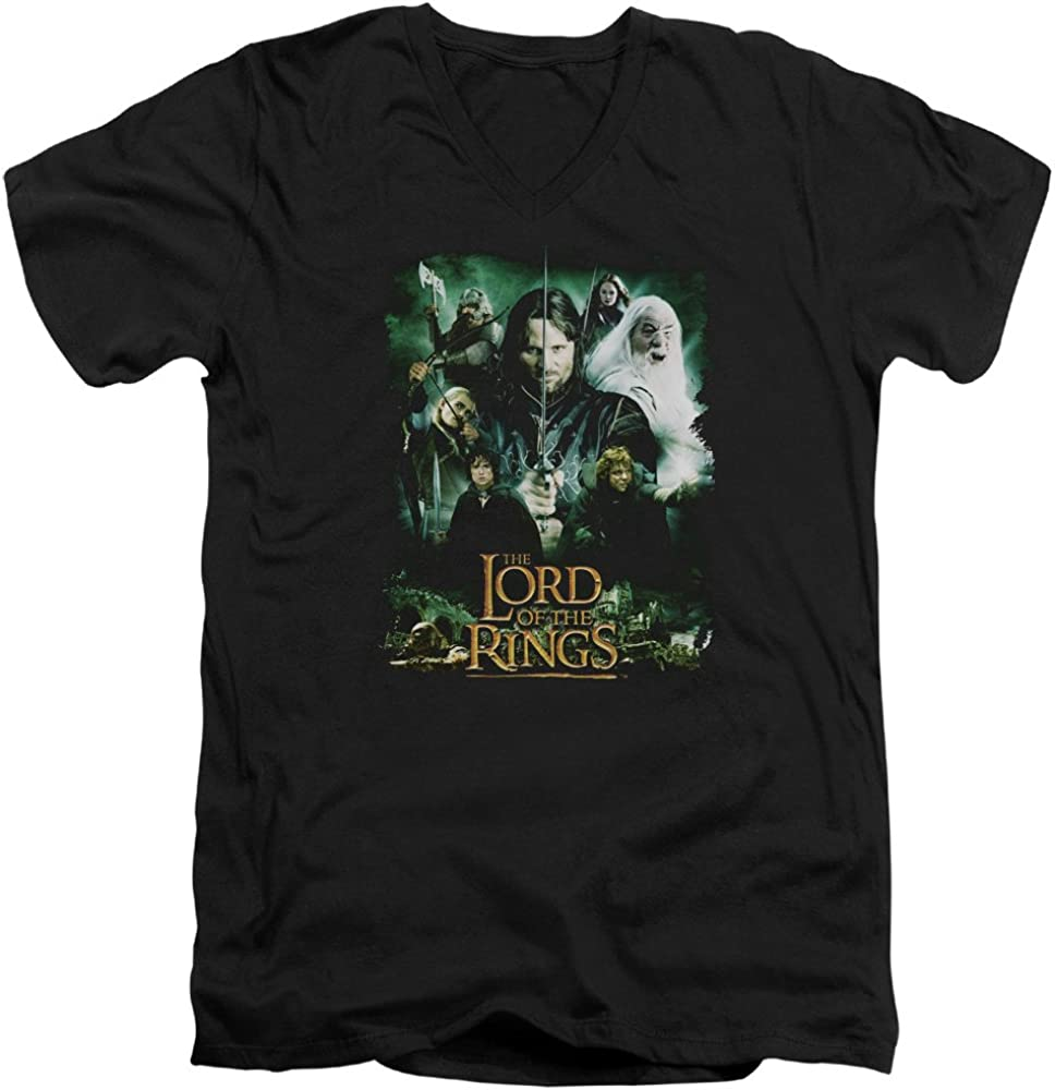 Lord Of The Rings Eye Of Sauron Adult V-neck T-shirt